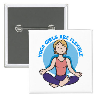 Yoga Girls Are Flexible Yoga Button