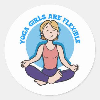 Yoga Girls Are Flexible Yoga Classic Round Sticker