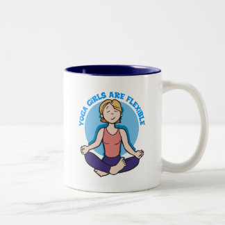 Yoga Girls Are Flexible Yoga Two-Tone Coffee Mug