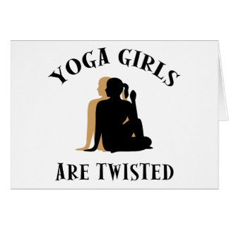 Yoga GIrls Are Twisted  Gift Card