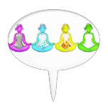 Yoga Girls Oval Cake Toppers