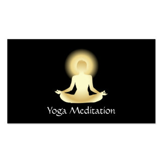 Yoga (gold) Enlightened Business Card