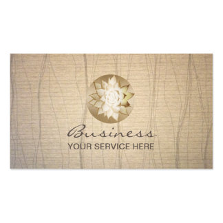 Yoga Gold Lotus Flower Stylish Paper Healing Salon Double-Sided Standard Business Cards (Pack Of 100)