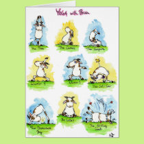 YOGA greeting card by Nicole Janes