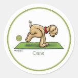 Yoga - grúa pegatina redonda