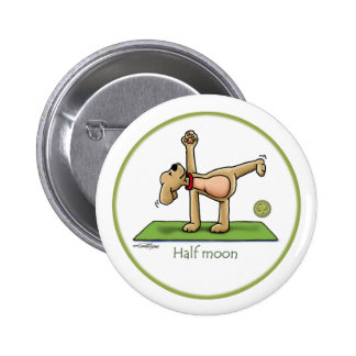 Yoga - Half Moon Button