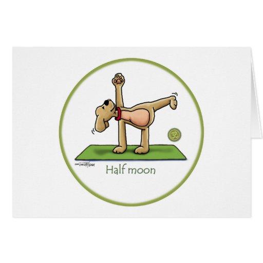 Yoga - Half Moon Greeting Card