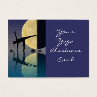 Yoga Half Moon Pose Business Card