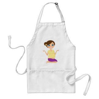 Yoga hand painted girl : Tshirts Adult Apron