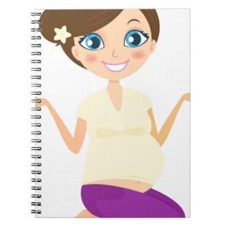 Yoga hand painted girl : Tshirts Notebook