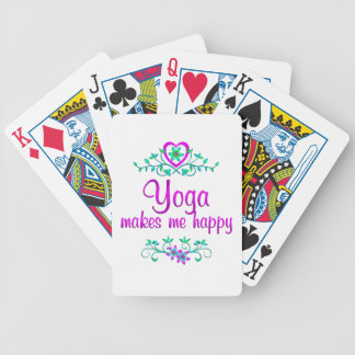 Yoga Happy Bicycle Playing Cards