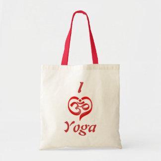 yoga heart tote bag