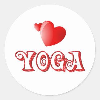 Yoga Hearts Stickers