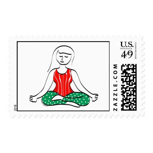 Yoga Holiday Stamps