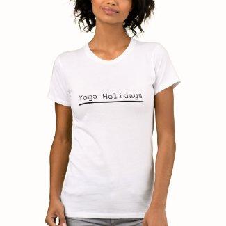 Yoga Holidays white Tshirt for Mom