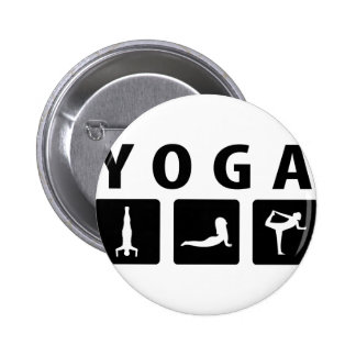 yoga icon 2 inch round button
