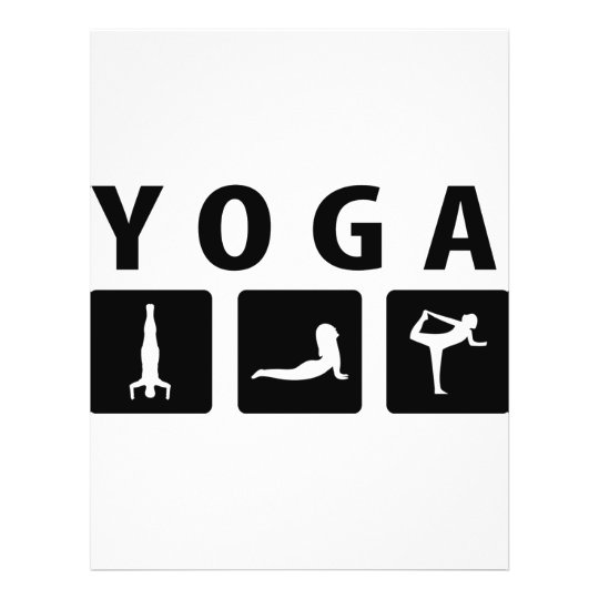 yoga icon flyer