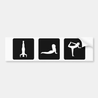 yoga icons bumper sticker
