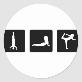 yoga icons stickers