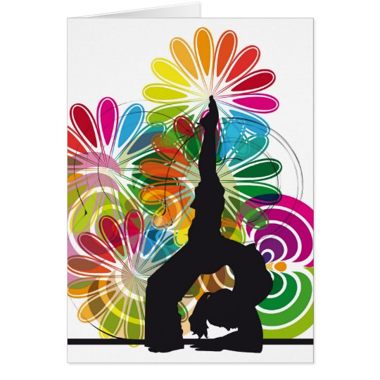 Yoga illustration card