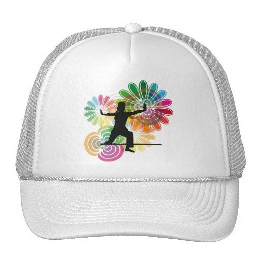 Yoga illustration mesh hat