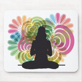 Yoga illustration mouse pad