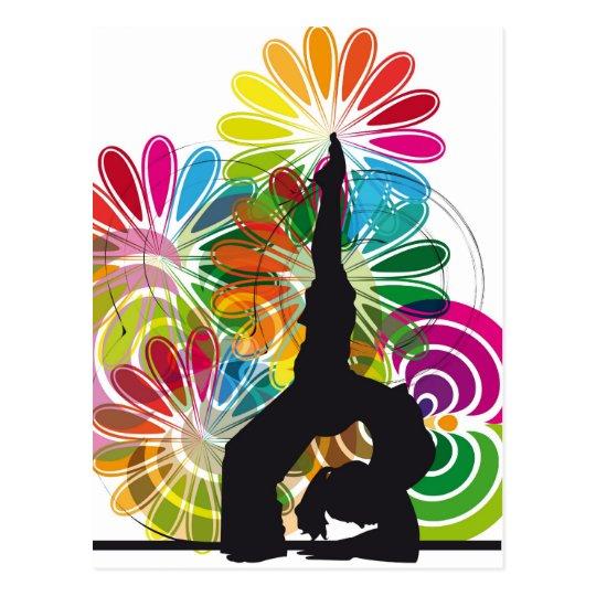 Yoga illustration postcard