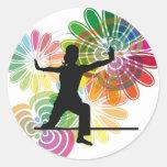 Yoga illustration sticker