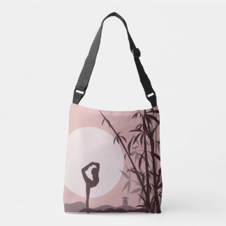 Yoga in Pink Crossbody Bag