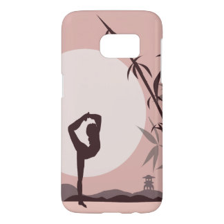 Yoga in Pink Samsung Galaxy S7 Case