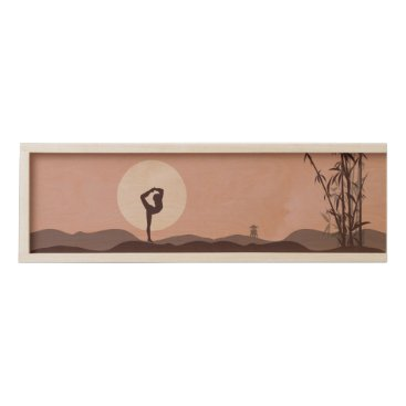 Yoga in Pink Wooden Keepsake Box