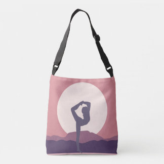 Yoga in Purple Crossbody Bag