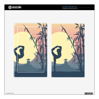 Yoga in the Mist Skins For Kindle Fire