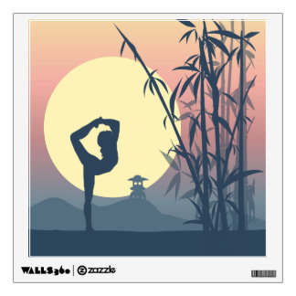 Yoga in the Mist Wall Sticker