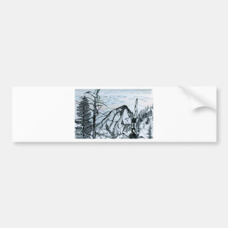 Yoga in the mountains bumper sticker