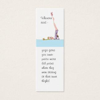 Yoga Inner Peace bookmark Mini Business Card