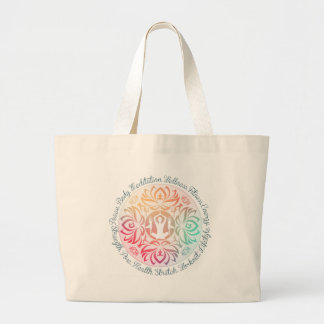 Yoga Inspirations Large Tote Bag
