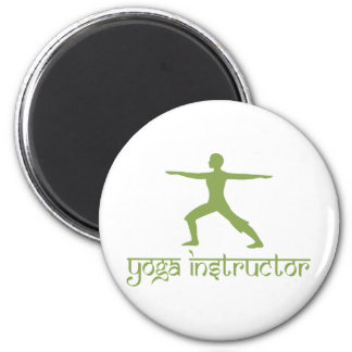 Yoga Instructor 2 Inch Round Magnet