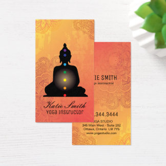 Yoga Instructor and Reiki Master Business Cards