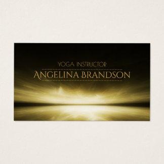 Yoga Instructor Behind The Horizon Light Card
