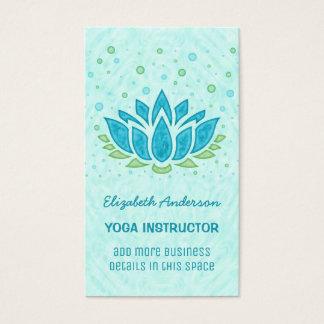 Yoga Instructor | Blue Lotus Flower Zen Meditation Business Card
