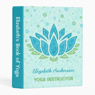 Yoga Instructor | Blue Lotus Flower Zen Meditation Mini Binder