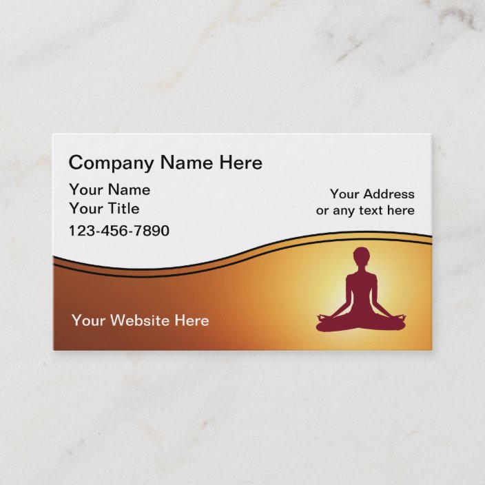 Yoga Instructor Business Card Zazzle.com