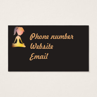 Yoga Instructor- business card