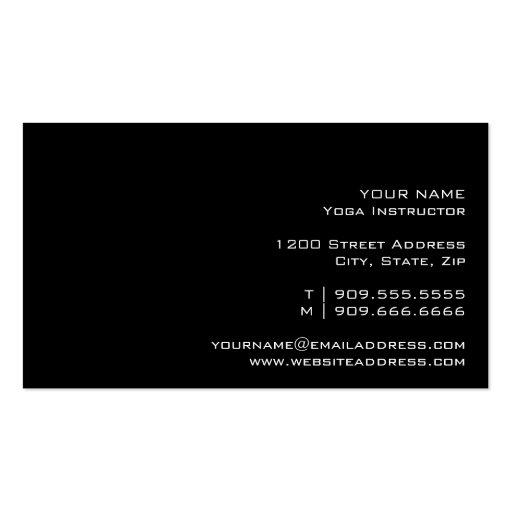 YOGA Instructor Business Card (back side)