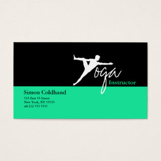 Yoga Instructor Business Card Green