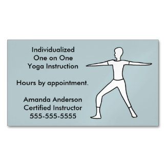Yoga Instructor Business Card Magnets