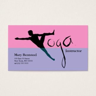 Yoga Instructor Business Card Pink Purple