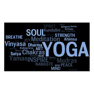 YOGA Instructor Business Card - Yoga Words