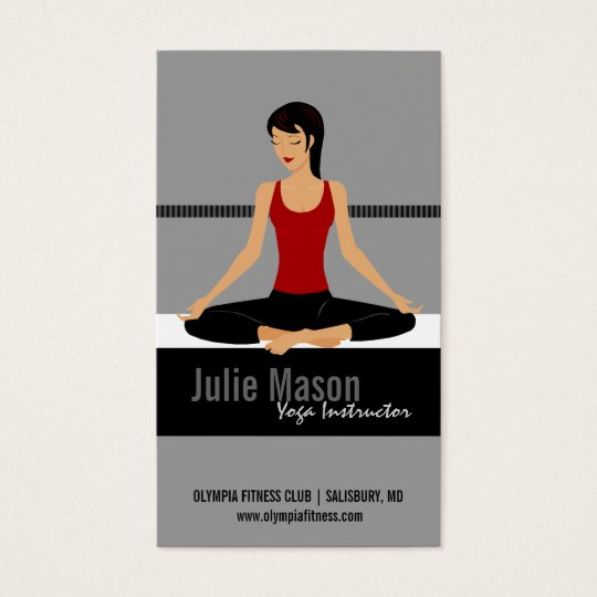 Yoga Instructor Business Cards